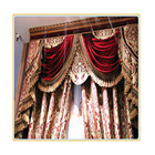 Burgundy Wine Custom Free Shipping Hotel Curtains,Classic Royal Quality Curtain Send Express Baroque Style For Window Wide/