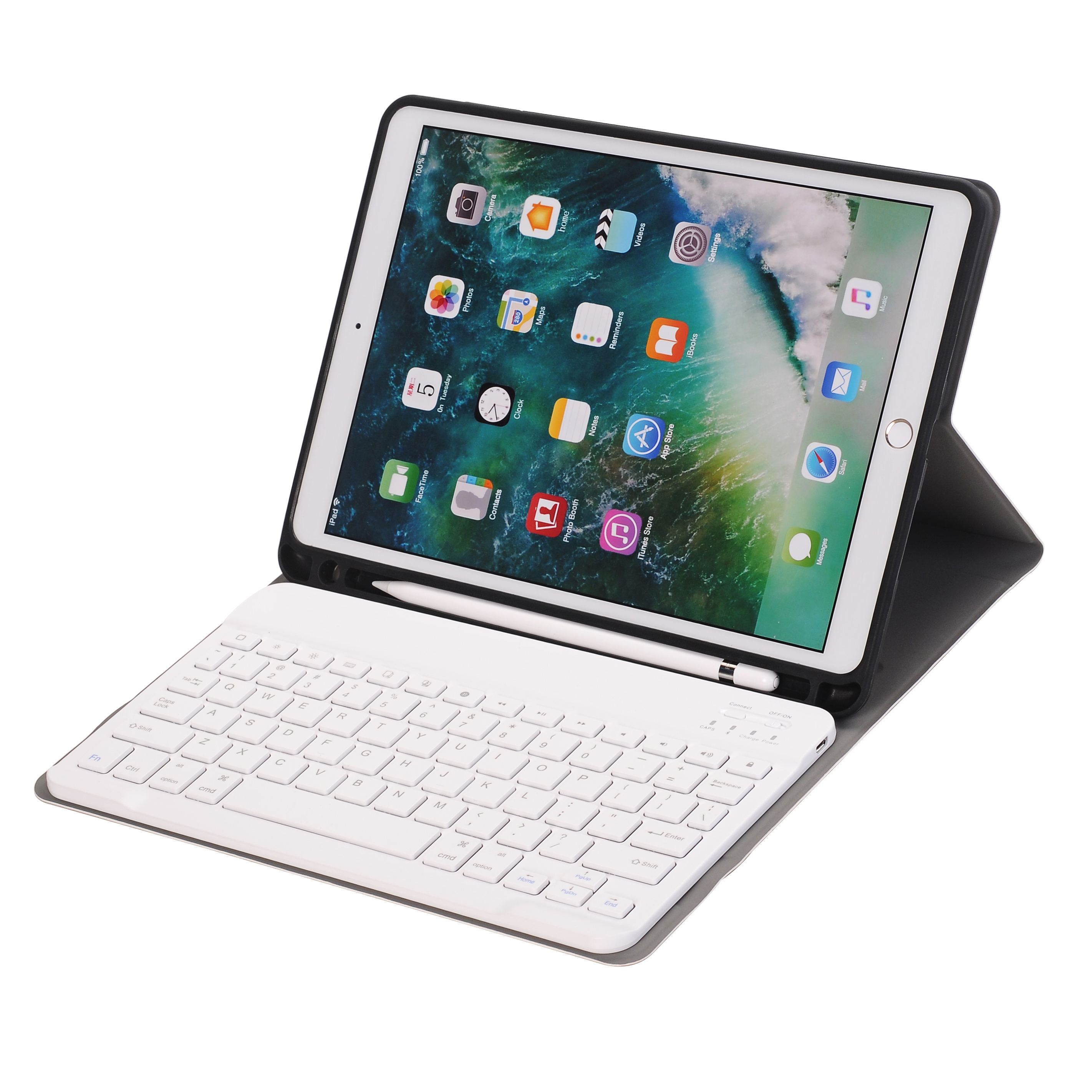 ABS Slim Portable Wireless Detachable Bluetooth Keyboard Case for <strong>iPad</strong> Pro 10.5/ Air 10.5 2019 with Pen Slot