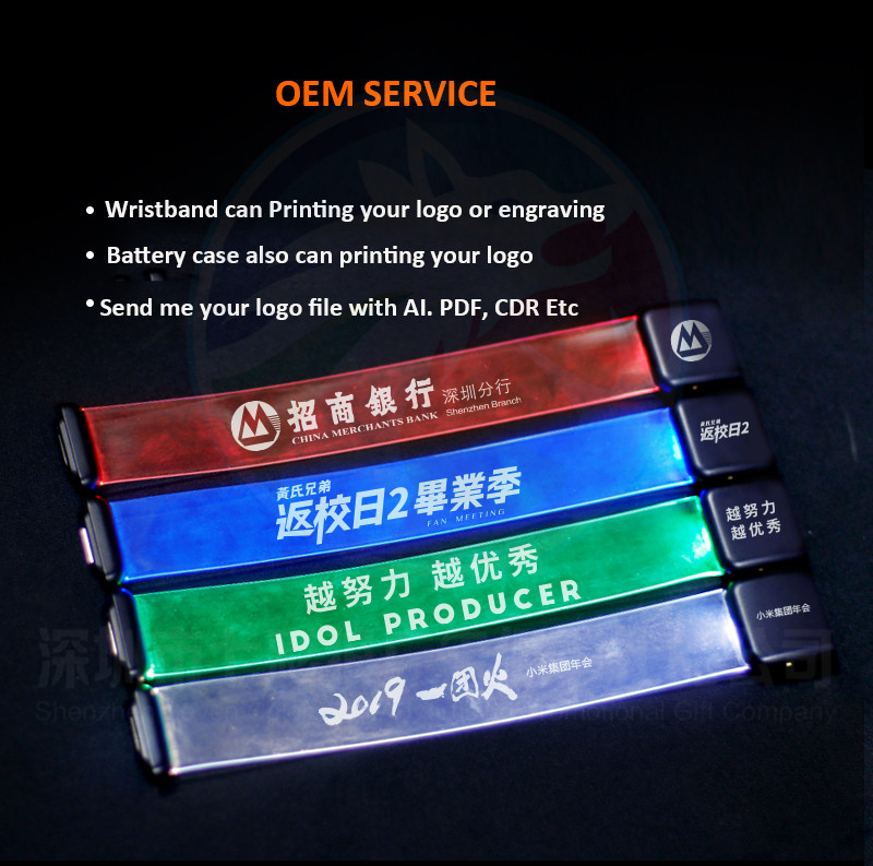 TPU LED Bracelet With Magnet For Event And Concert New Arrival ON/OFF Switch Controlled  LED TPU Bracelet for Party Decoration