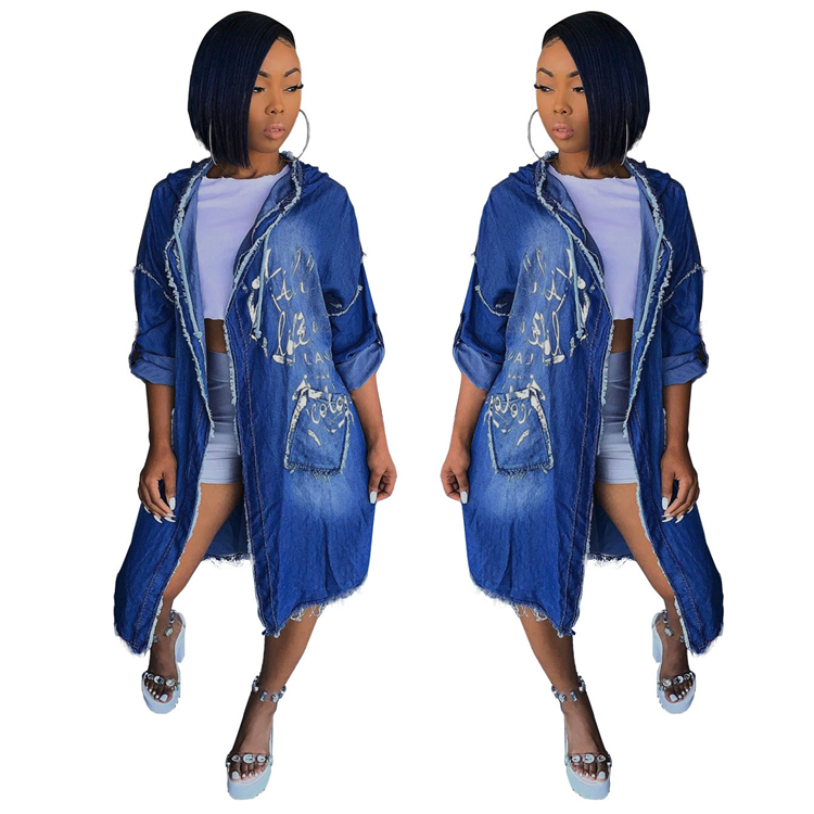 Cheap Oversize Casual Cowboy <strong>Trench</strong> <strong>Coat</strong> <strong>for</strong> <strong>Women</strong> Loose Outwear Long Denim Jean <strong>Coat</strong> Single-breasted Pocket Female