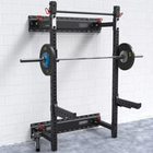 Weight lifting Equipment Arm Folding Space Saving Wall Mount Rack