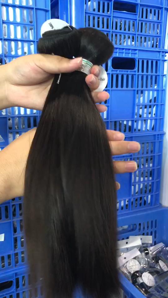 Harga Bagus 100% Rambut Perawan Warna Alami Rambut Lurus Alami