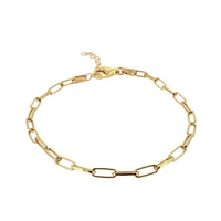 18K Gold Plated Stainless Steel Chain Bracelet Dainty Fashion Women Link Chain Bracelet Jewelry