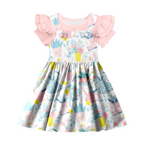 Mode Neue Marken <span class=keywords><strong>Kinder</strong></span> Mädchen Floral Kleid 2 pcs Boutique Outfit Baby Günstige China Großhandel <span class=keywords><strong>Kinder</strong></span> Kleidung