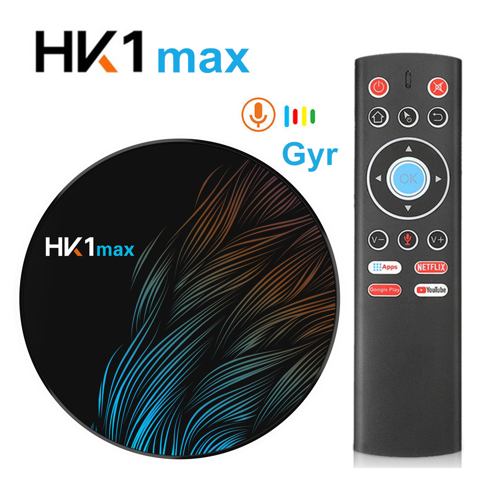 Smart tv box HK1MAX Android 9.0 2.4G/5G Wifi BT 4.0 RK3318 Quad Core 4K 1080P Full HD hk1 max Set-Top Box Netflix KD <strong>Player</strong>