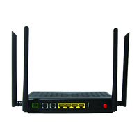 ONU GPON EPON Router 4Ports+WIFI+2VOIP+USB Dual Frequency WIFI 2.4G&5.8G Good Price ONU Match with Huawei