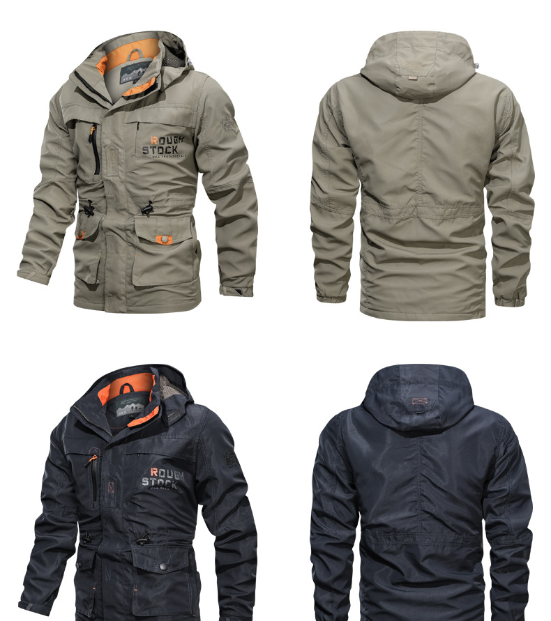 2020 New Fashion Mens Winter Windproof Parka Thicken Jacket Hooded Plus Size Outwear Coat