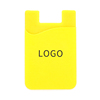 Custom Logo Printed Adhesive Silicone Mobile Phone Wallet Case Silicone Wallet Cell Phone Card Holder