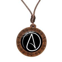 Ожерелье с атеистами и символом атеизма, стеклянный кабошон, Деревянные Подвески для мужчин и женщин, 2020(Китай)