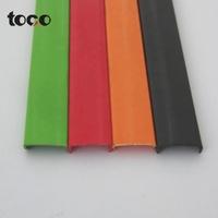 PVC u edge shaped banding tape  furniture wood grain cabinet edge trim u molding rubber