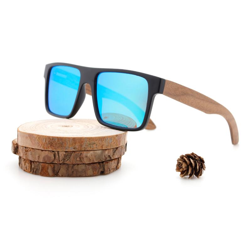 Custom Logo Sun Glasses Bamboo Wooden Polarized Handmade Sunglasses
