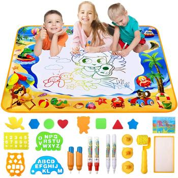 Large Magic Aquadoodle Aqua Doodle Coloring Painting Water Drawing Mat With Pen For Kids