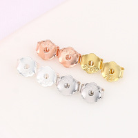4colors 925 sterling silver earring accessories gold silver clip on earring backs