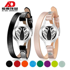 Titanium steel essential oil aromatherapy diffused leather bracelet strap bracelet jewelry angel wings young life