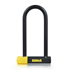 Alarm Lock Door Alarm Lock Alarm 14mm 230mm Length U Lock For Bike EBike Glass Door Carbide-Reinforced Steel U-bar Lock With Alarm Selection