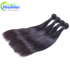 straight wave hair bundles with closure 100% raw malaysian human hair extensions grade 8a for wholesale price