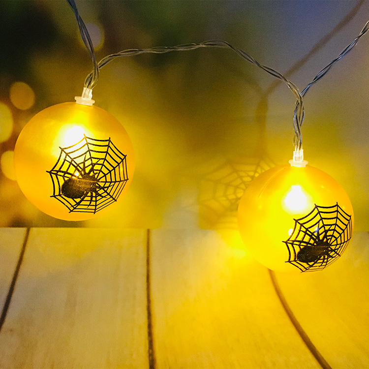Custom Fairy 1.5M Battery Spider magic Ball Decoration camping Lights Led String