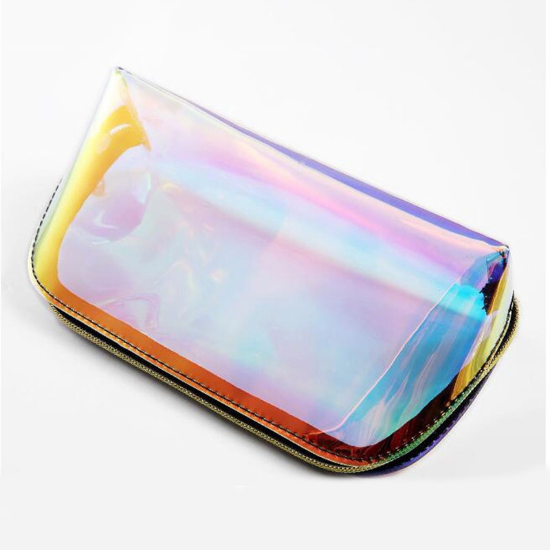 product-Fashion Women Makeup Case Laser Cosmetic Bags Transparent Cosmetic Pouch Ladies Jelly Bag Po