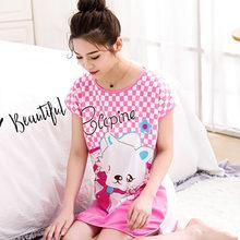 Sanderala Женская Милая Ночная рубашка с рисунком, сексуальная пижама с круглым вырезом, женское нижнее белье на бретелях, тонкое женское нижнее...(Китай)