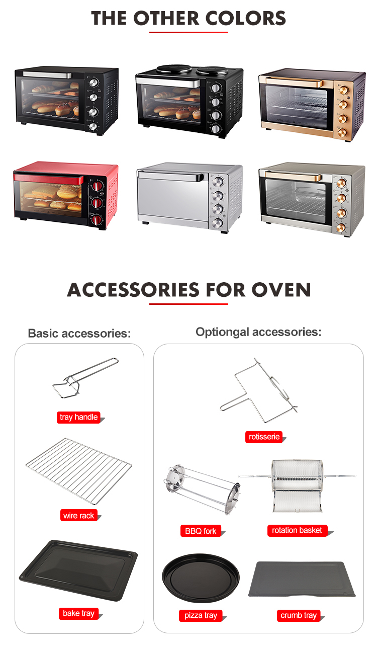 Home baking Horizontal pizzarette otg toaster small Home use commercial Kebab Baking cake roast chicken portable oven machine