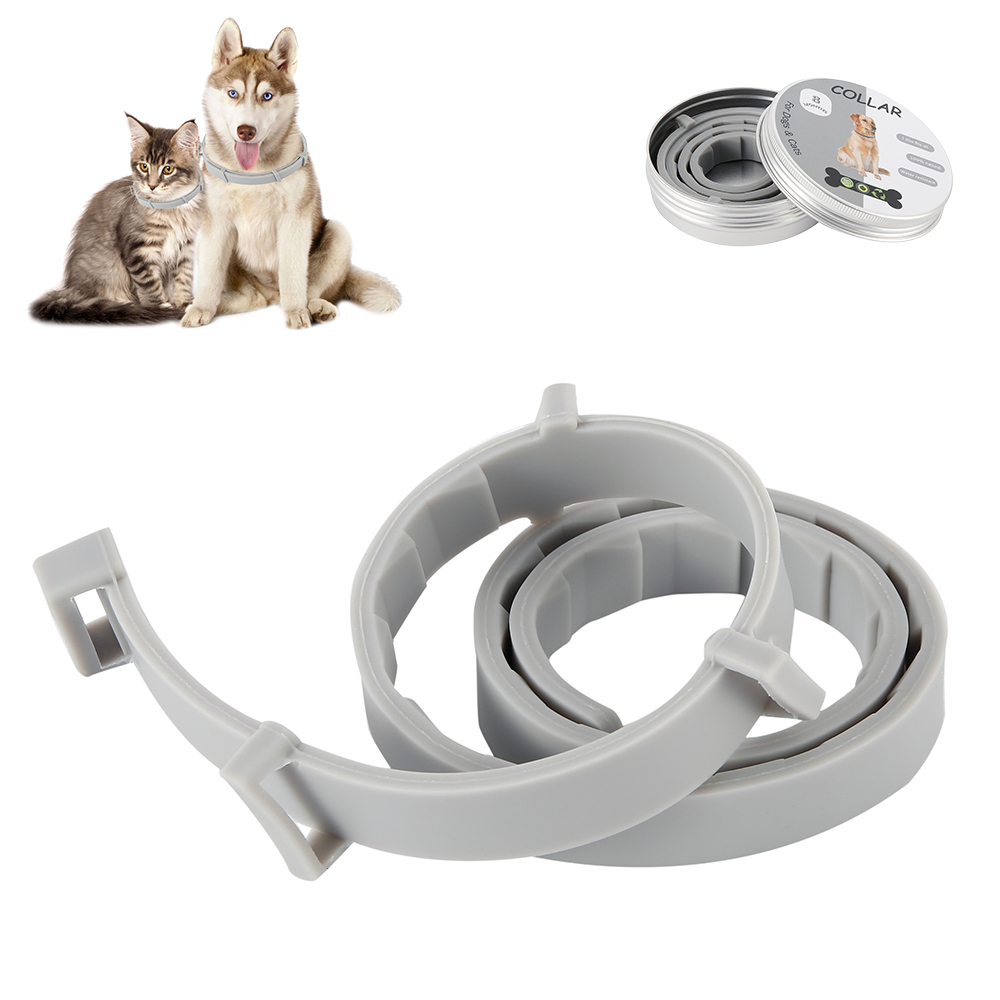 Anjing & Kucing Kerah 8 Bulan Flea & Tick Pencegahan Aksesoris Kucing Anti Flea Kutu Nyamuk Silicone Adjustable Kerah Hewan Peliharaan