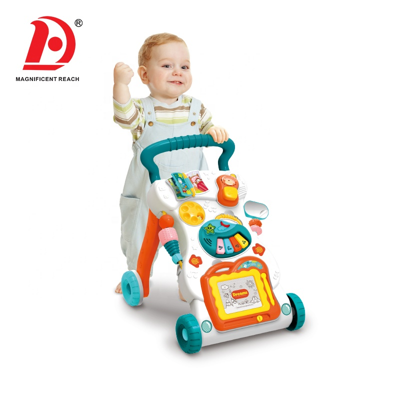 HUADA 2020 Christmas juguetes bebe Cheap Multifunctional First Step Musical Baby Learning Walker Push Car Toy in Wholesale