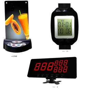Vibration for restaurant two watch receivers with 10 menu buttons restaurant wireless customer call buzzer