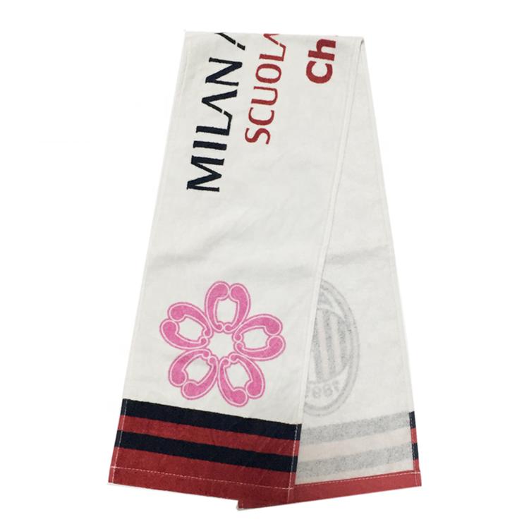 סין מפעל 100% כותנה דפוס דיגיטלי 20*110cm כושר מגבת לוגו מותאם אישית עבור יפן לקוחות