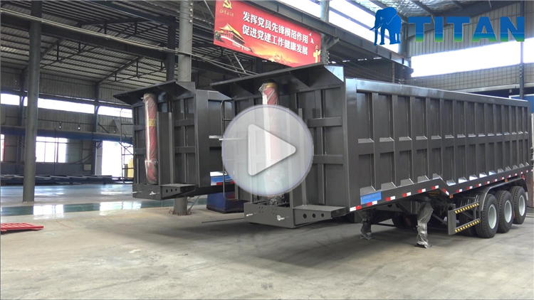 TITAN 20ft container tipper semitrailer tipping container flatbed semi trailer