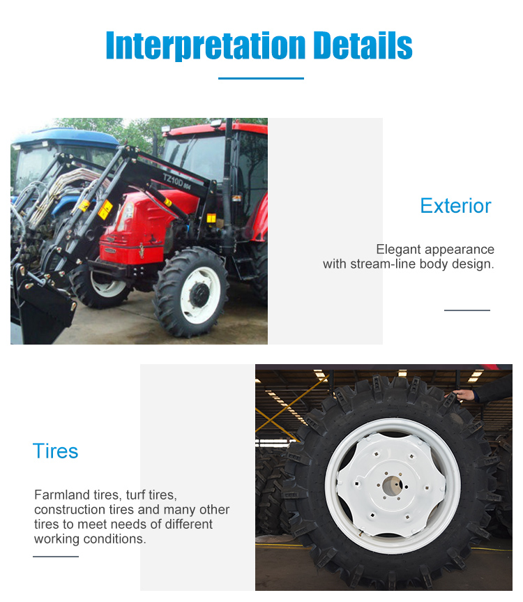 China Lz304 Compact Garden Wheeled Tractor, Fit with 4in1