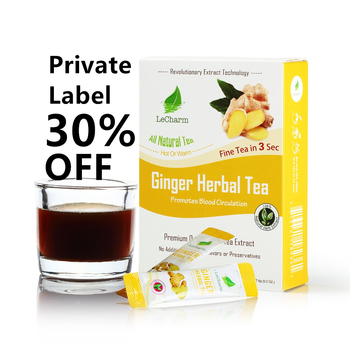 Pure Ginger Tea Instant Herbal chai Tea and Warm Instant Honeyed Ginger Tea Benefits Drink authentea customized private label