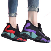 Woman cheap breathable custom homme sock shoes walking sports shoes ladies wedge sneakers