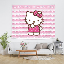 Гобеленовая стена Hello Kitty, розовый милый Декор для комнаты, Настенный декор для общежития, tapesty kawaii, фон для комнаты, рисовый флаг, новинка 2020()