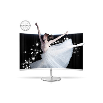 Ipason AOC C32V1Q 31.5 Inch White 1080P 1700R 180View Angle DP VGA Low Blue Mode Curved Gaming Computer Monitor