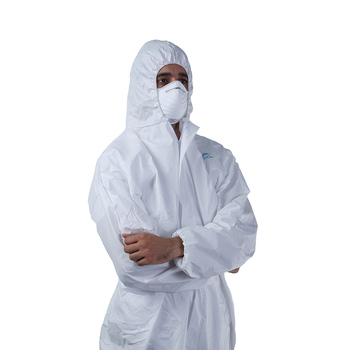 Heavy Duty Industrial Protection 50gsm Microporous Disposable Clothing