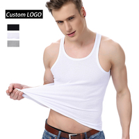 High Quality Wholesale White Undershirts Cotton Vest Tank Top Men Underwear Undershirt