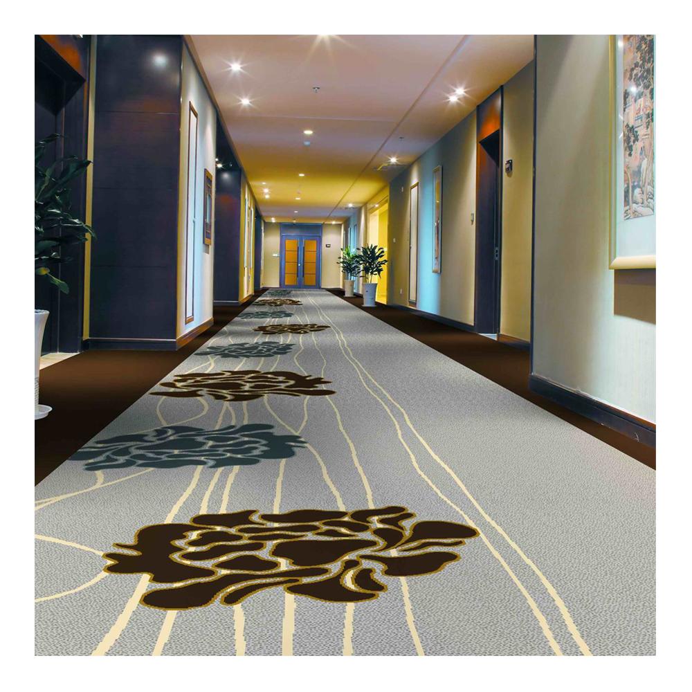 80% Lã e 20% Nylon tapete apoio PP Axminster tapete para hotel
