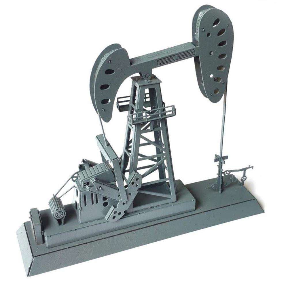 1:87 HO Scale Train Railway Scene Decoration Drilling Oil Station Model