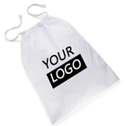 Biodegradable Non Woven Mesh Drawstring Commercial Laundry Bags