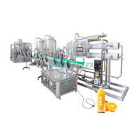 Complete carbonated soft drink production line soda water glass bottle filling machine plant