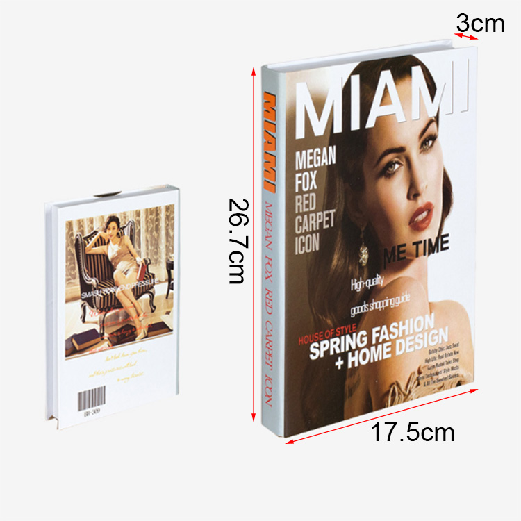 China Wholesale Book Decoration Packaging Storage Book Shape Box