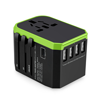 Wholesales Type C travel plug adapter with UK AU US EU Adapter total 5USB 5600mA
