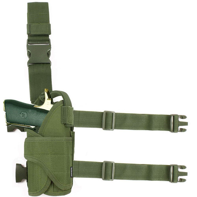 Molle Tactical Pistol Thigh Gun <strong>Holster</strong>, Drop <strong>Leg</strong> <strong>Holster</strong>, Right Hand Adjustable DYT-052 Green