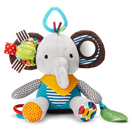 Amazon Hot Product Baby Bed Bell Stuffed Animal Elephant Lion Fox Plush Toy Doll Tooth Glue Baby Teether Rattles Toy