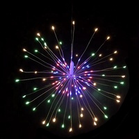 Solar Power diwali Wedding Decoration Christmas Starburst LED Fireworks Tree String Lights