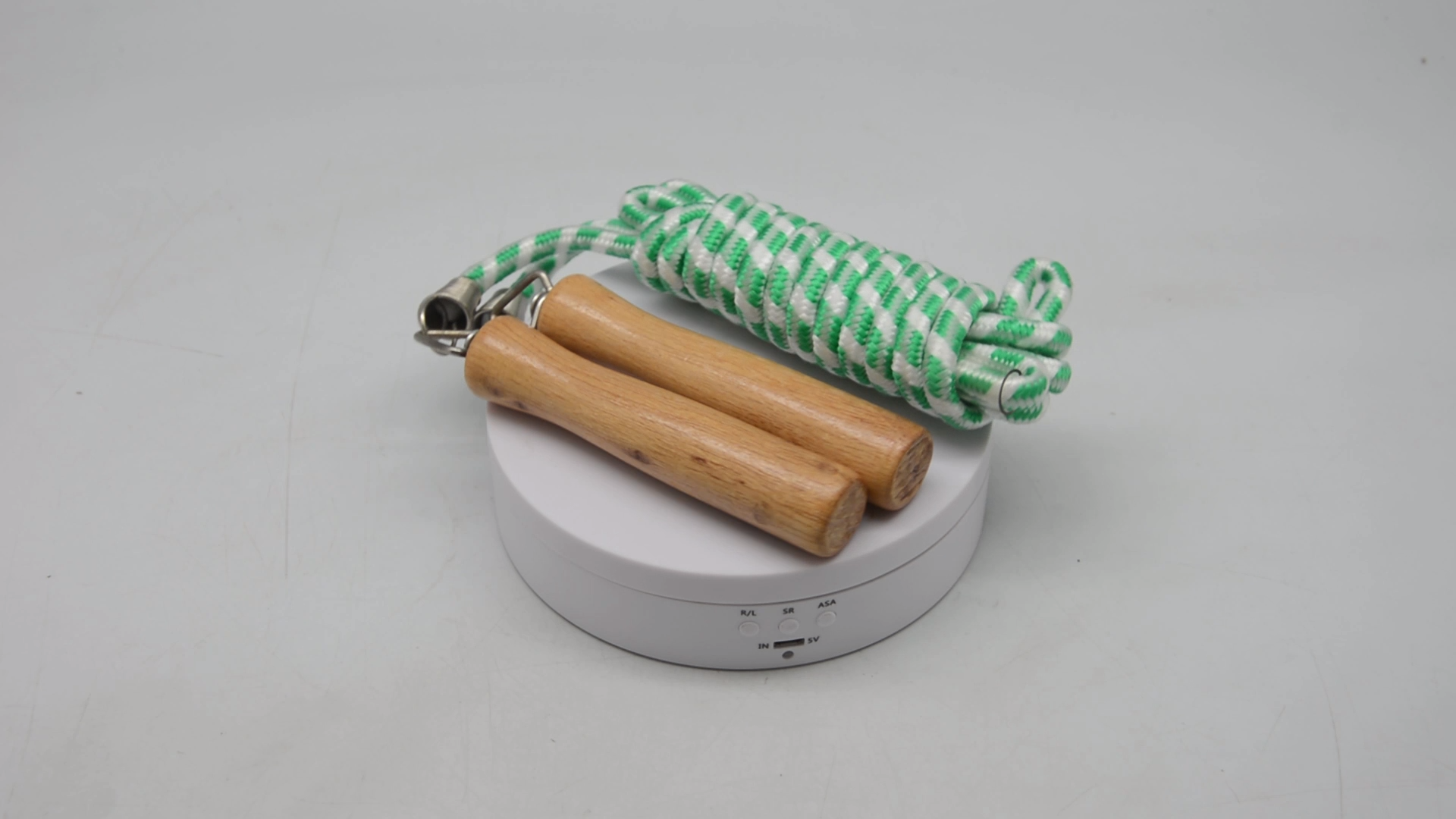 Promotional Wooden Handle Skipping Rope for Match