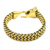 Viking Stainless steel Jewelry Chain pulsera Gold plated Wolf head Bracelets For Man biker Punk Bangles