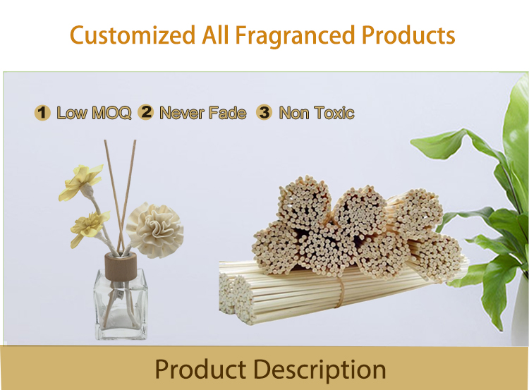 Wholesale branded cheap home luxury rattan stick aroma room fragrance decorative scented aromatherapy reed diffuser set for gift