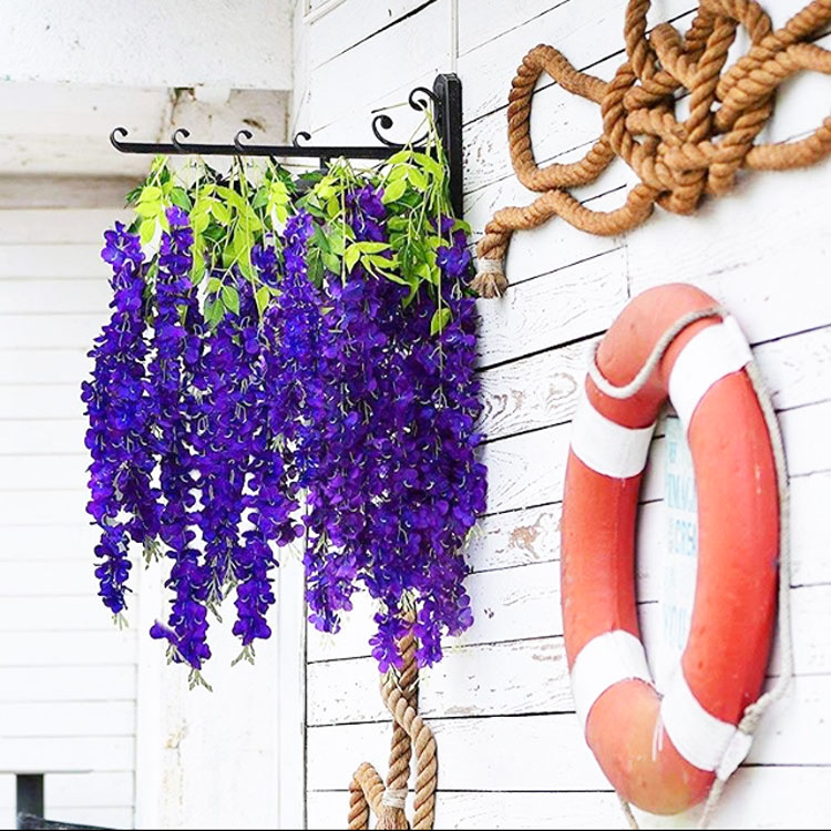 wedding party backdrop decoration artificial wisteria silk <strong>flowers</strong>