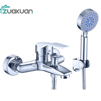 Square 360*500mm Embedded Ceiling European Shower Faucet Rainfall Shower Head Set Thermostatic Bathroom Mixers Bath LED Light T